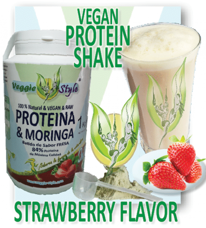 Bio Veggie Style Protein with Moringa 84 % with Strawberry Flavor 1 KG