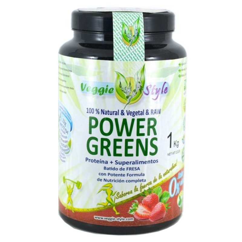 Power Greens - 1Kg - Vegan strawberry flavor by Veggie Style