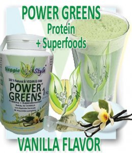 Power Greens - 1Kg - Vegan vanilla flavor by Veggie Style