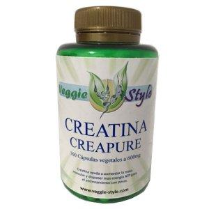 Creatine Creapure 600mg 160 capsules of Veggie Style Bio