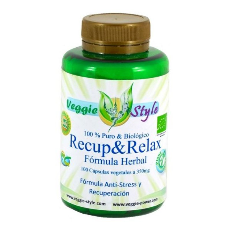 Recup Relax 350 mg 100 capsules of Veggie Style Bio
