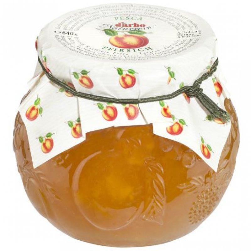 Darbo natural jam peach in a decorative jar 640 gr.