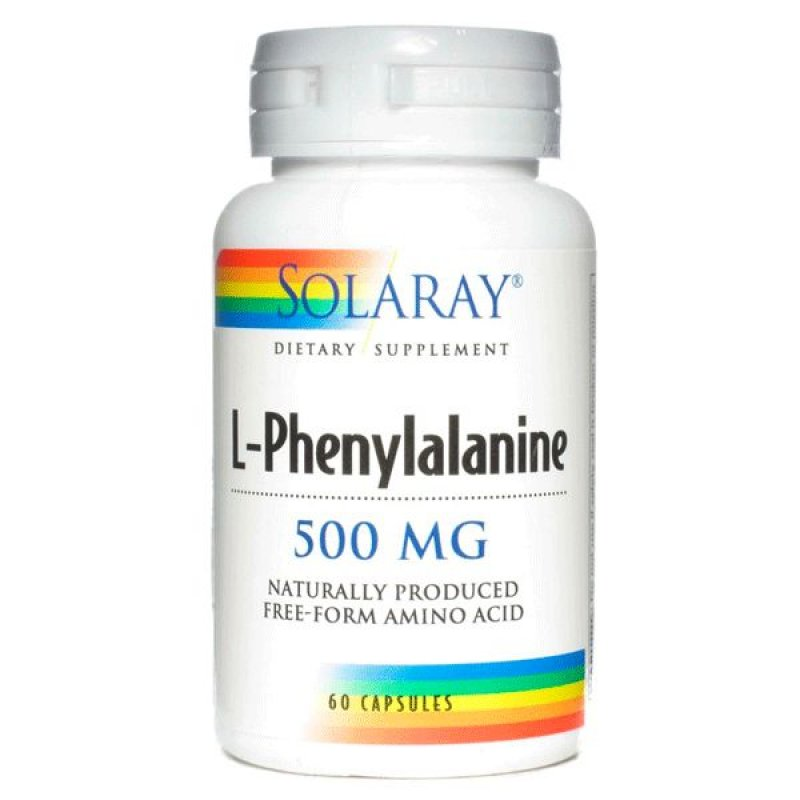 Solaray DL-Phenylalanine 500mg 60 Veggie Capsules