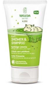 Kids 2in1 Shower & Shampoo Sparkling Lime 150 ml Weleda