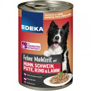 EDEKA Dog Feed Fine meal with chicken, pig, turkey, beef and lamb 400G