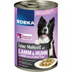 EDEKA Dog Feed Fine meal with lamb, chicken, pasta and carrots 400G