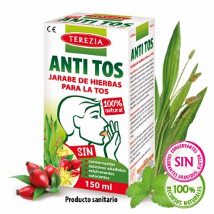 ANTI tos jarabe 100% herbal para la TOS 150 ML