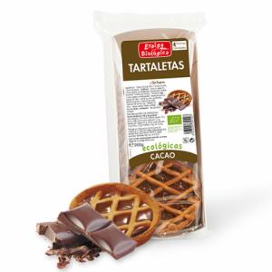 Organic cocoa tartlets vegan