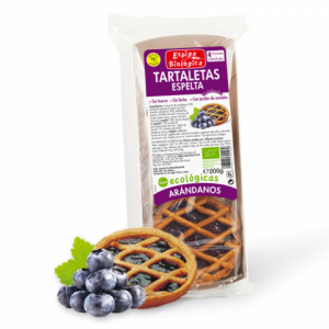 Organic blueberry spelled tartlets vegan