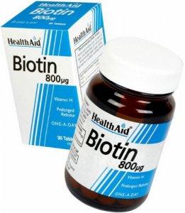 Biotin 800µg - 30 tablets HealthAid